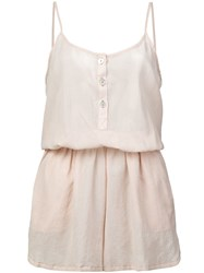 Lemlem Pj Romper Nude And Neutrals
