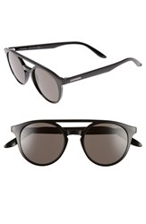 Carrera Women's Eyewear 49Mm Round Sunglasses Shiny Black