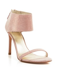 Stuart Weitzman Open Toe Evening Sandals Showgirl High Heel Flesh