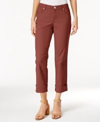 Styleandco. Style Co. Cuffed French Birch Wash Jeans Only At Macy's Terracotta
