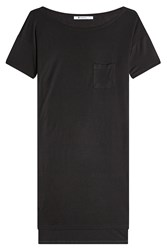 Alexander Wang T By Jersey T Shirt Dress With High Low Hemline Black