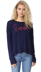 Sundry Loved Crew Neck Sweater Navy