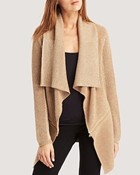 Kenneth Cole New York Sabrina Metallic Knit Cardigan Camel Gold