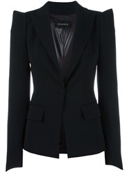 Plein Sud Jeans Pointy Shoulders Blazer Black