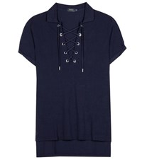 Polo Ralph Lauren Asymmetric T Shirt Blue