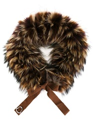 Moncler Raccoon Fur Scarf Brown