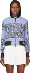 Peter Pilotto Lilac And Green Knit Bomber Jacket