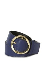 Karen Millen Round Buckle Belt Blue