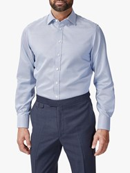 Chester Barrie By Puppytooth Shirt Blue