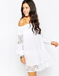 Max C Long Sleeve Beach Dress White