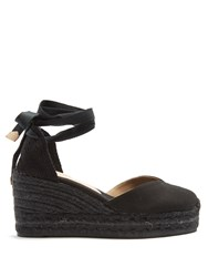 Castaner Chiara Canvas Wedge Espadrilles Black