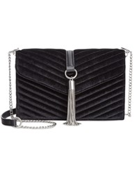 Inc International Concepts Yvvon Velvet Crossbody Only At Macy's Black