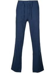 Onia Tailored Straight Leg Collin Trousers Blue