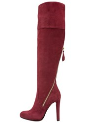 Mai Piu Senza High Heeled Boots Passion Bordeaux