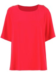 Alberto Biani Coral Blouse Women Polyester Triacetate 40 Red
