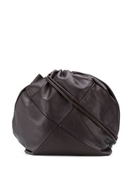 Giorgio Armani Vintage 1990'S Panelled Bucket Bag Brown
