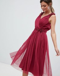 Little Mistress V Neck Prom Dress Red