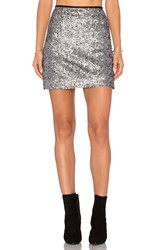 Sanctuary Leila Skirt Metallic Silver