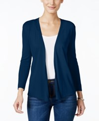 Styleandco. Style And Co. Petite Three Quarter Sleeve Cardigan Only At Macy's Industrial Blue