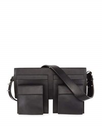 Cnc Costume National Utility Style Leather Shoulder Bag Black