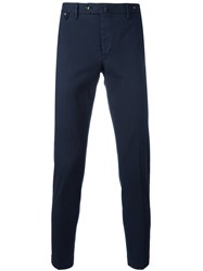 Pt01 Off Centre Button Chinos Blue
