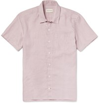 Oliver Spencer Hawaiian Linen Shirt Pink