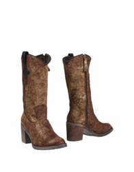 Cuple Ankle Boots Bronze