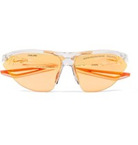 Heron Preston Nike Tailwind Polycarbonate Sunglasses With Interchangeable Lenses Clear