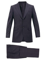 Dunhill Glen Check Wool Two Piece Suit Blue