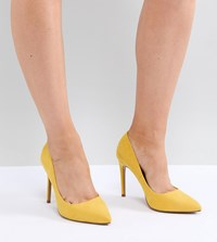 Asos Design Paris Wide Fit Pointed High Heels Yellow