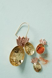 Anthropologie Brass Pineapple Measuring Spoons Gold