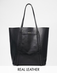 Whistles Leather Shoulder Bag Black