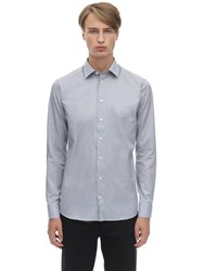 Eton Cotton Poplin Shirt Blue