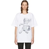 Juun.J White Cat Mummy T Shirt