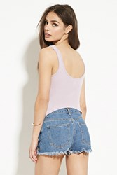 Forever 21 High Back Ribbed Knit Tank