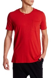 Drifter Trax Distressed Tee Red