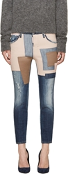 Dsquared Blue Patchwork Cool Girl Blue Haze Jeans