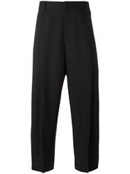 Mcq By Alexander Mcqueen Cropped Kilted Trousers Men Virgin Wool 52 Black