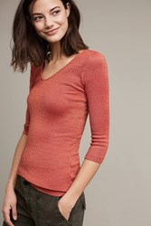 Anthropologie Luminary V Neck Tee Copper