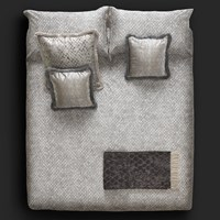 Roberto Cavalli Limited Edition Flakes Bed Sheet Set Grey