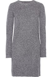 Current Elliott The Easy Heathered Wool And Cashmere Blend Mini Dress Light Gray