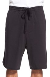 Men's James Perse Drawstring Basketball Shorts True Black