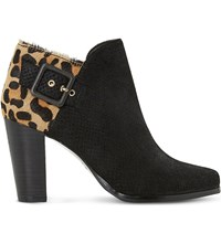Dune Oaklee Leather Boots Leopard Pony