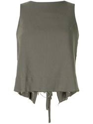 Song For The Mute Two Way Tassel Detail Top Green