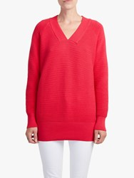 French Connection Ottoman V Neck Jumper Watermelon