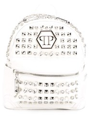 Philipp Plein 'Metal Bubbles' Backpack White