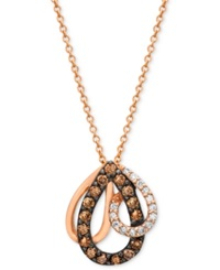 Chocolate By Petite Le Vian Chocolate Diamond 1 3 Ct. T.W. Pendant In 14K Rose Gold