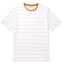 Ami Alexandre Mattiussi Striped Cotton Jersey T Shirt White