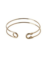 Bcbgeneration Pearl Group 12K Yellow Goldplated Safety Pin Cuff Bracelet