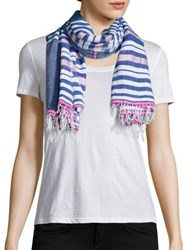 Lemlem Mini Striped Scarf Blue Multi